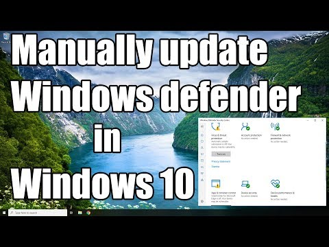 How To Manually Update Windows Defender's Virus Definition