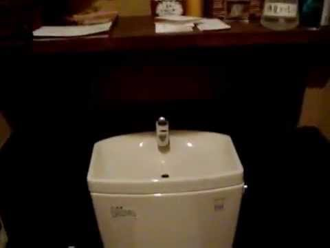 japanese toilet with sink.  Combined faucet sink toilet in a Japanese bathroom YouTube