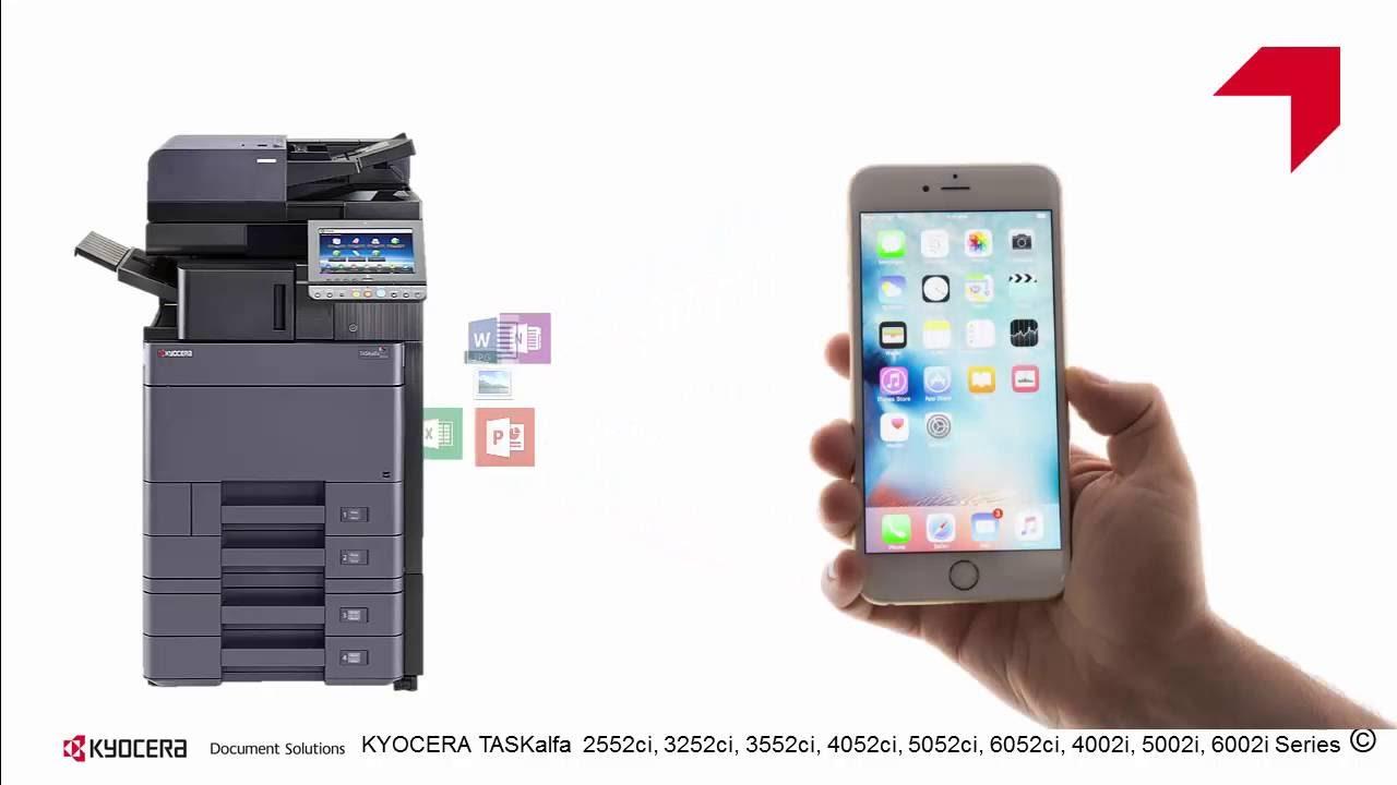 TASKalfa 2552ci series Configuración WiFi direct usando Airprint