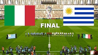 PES 2021 URUGUAY vs ITALY FINAL FIFA World Cup 2022 Full Match All GoalsHD Suarez vs Italy