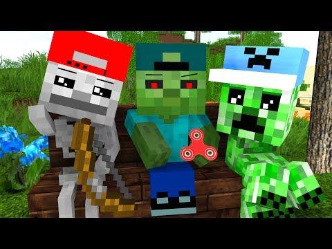 Mob Kids Life - Craftronix Minecraft Animation