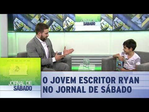 Jornal de Sábado recebe Ryan, o autor mais jovem a lançar um livro