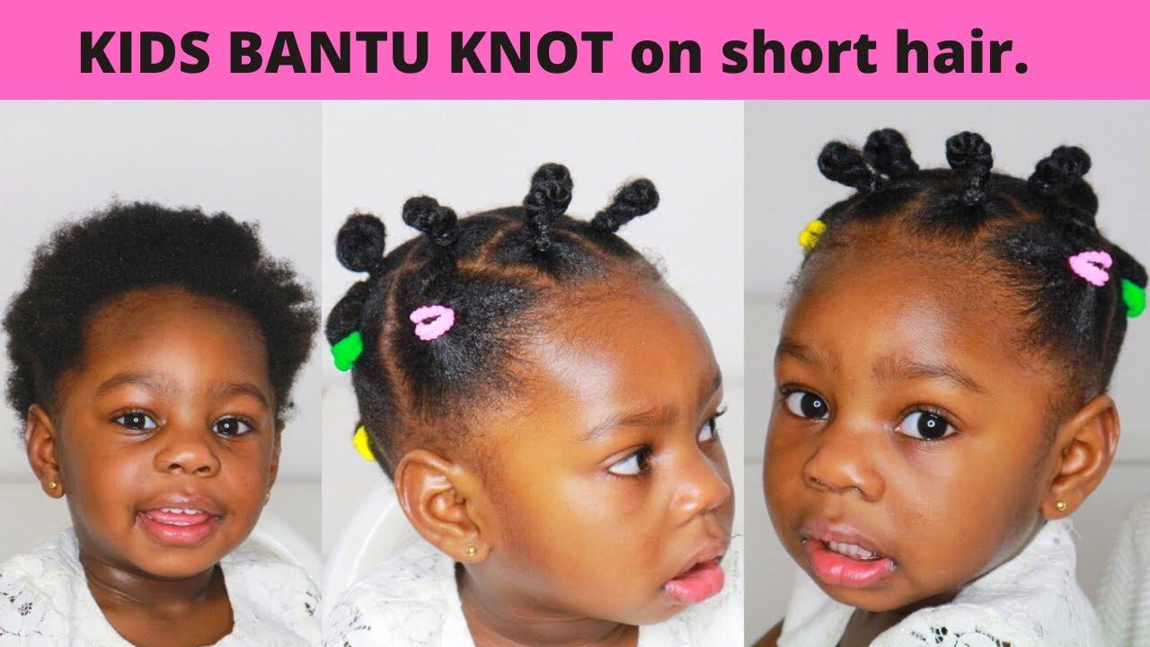 Toddler Bantu Knot Kids Protective Hairstyle Type 4 Short Natural Hair Youtube