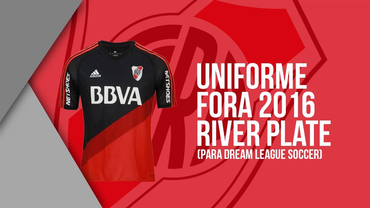 Uniforme Fora Do River Plate 2016 (DLS