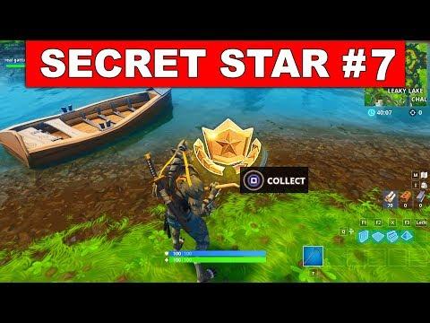 SECRET BATTLE STAR WEEK 7 SEASON 6 LOCATION! - Fortnite Battle Royale (Hunting Party Challenges)