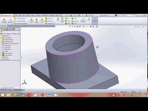 Solidworks foot step bearing assembly design tutorial part 1