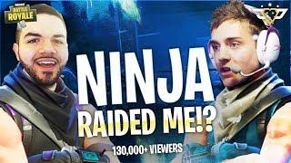 NINJA RAIDED ME WÏTH 130,000+ VIEWERS!!!! (I FREAKED OUT)