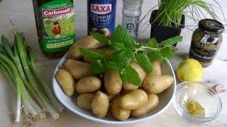 Warm Potato Salad With Vinaigrette How To Make Easy Recipe - No Mayonnaise