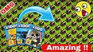 500 Max Giant Cannon VS Max 1000 Barbarian, 100 Super Pekka, 500 Giant Skeleton   COC private server