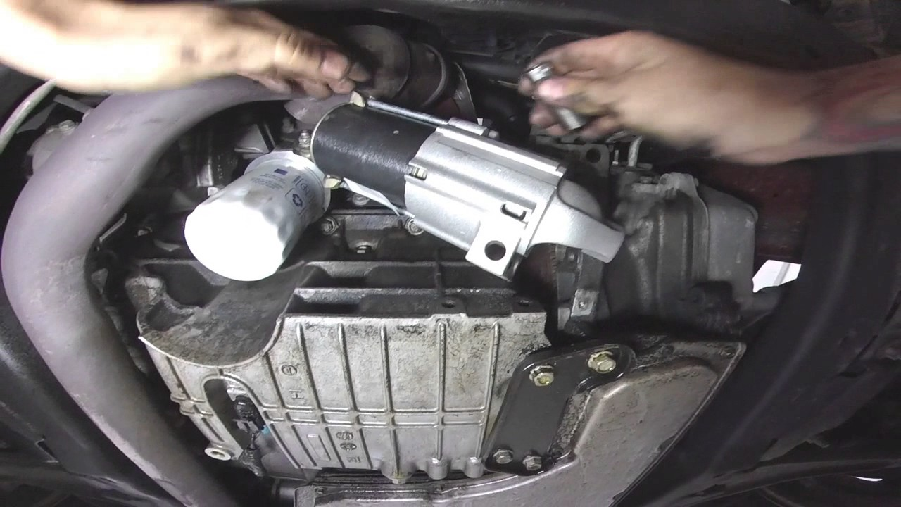 pontiac g6 starter replacment (also gm and chevy)  YouTube