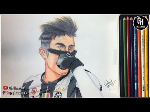 Desenhando Paulo Dybala Drawing Paulo Dybala Juventus Youtube