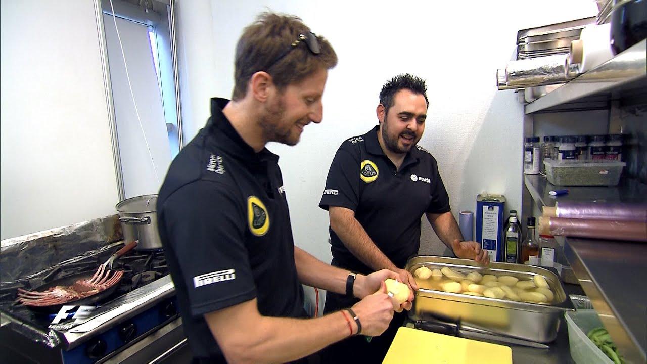 Romain Grosjean Cooks Up a Feast