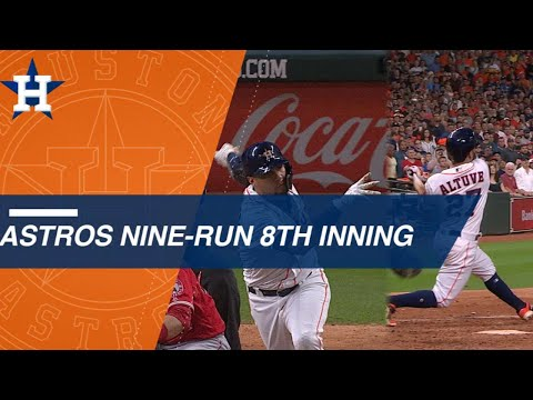 Astros use 9-run 8th inning to stun Angels