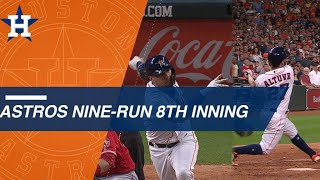 Download Astros use 9-run 8th inning to stun Angels Mp3 and Videos