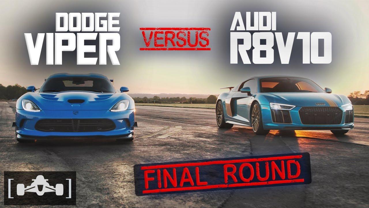 700HP Dodge Viper vs Tuned Audi R8 V10 | Front Engine vs. Mid Engine Supercar Drag Race [Part 3]