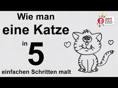 wie man eine katze in 5 einfachen schritten malt youtube. Black Bedroom Furniture Sets. Home Design Ideas