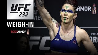 UFC 232: Weigh-in Video and Results