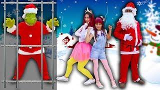 BIANKINHA E MALOUCOS SALVA PAPAI NOEL E NATAL DO MOSTRO GRINCH  Pretend Play Christmas Santa Claus