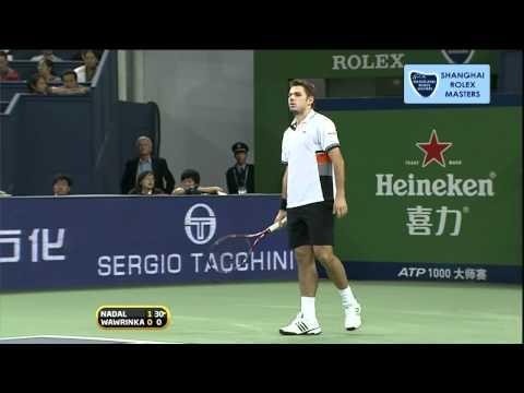 HD 720p Rafael Nadal vs Stanislas Wawrinka - R2 Rolex Shanghai 2010 Masters 1.000