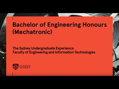 Bachelor of Engineering Honours (Mechatronic), University of Sydney