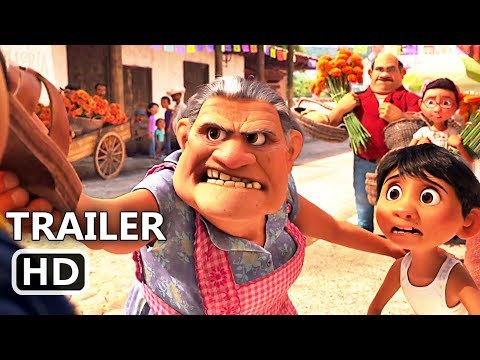"COCO ""Grandma VS Mariachi"" Funny Movie Clip (2017) Disney Pixar Animation Movie HD"
