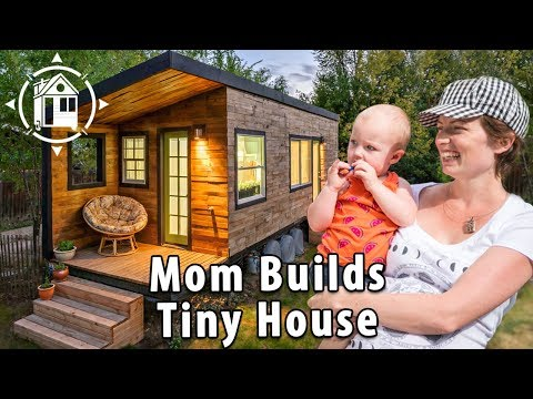 Tiny House Family! 2 Babies, a Great Dane & Mom Who Built It