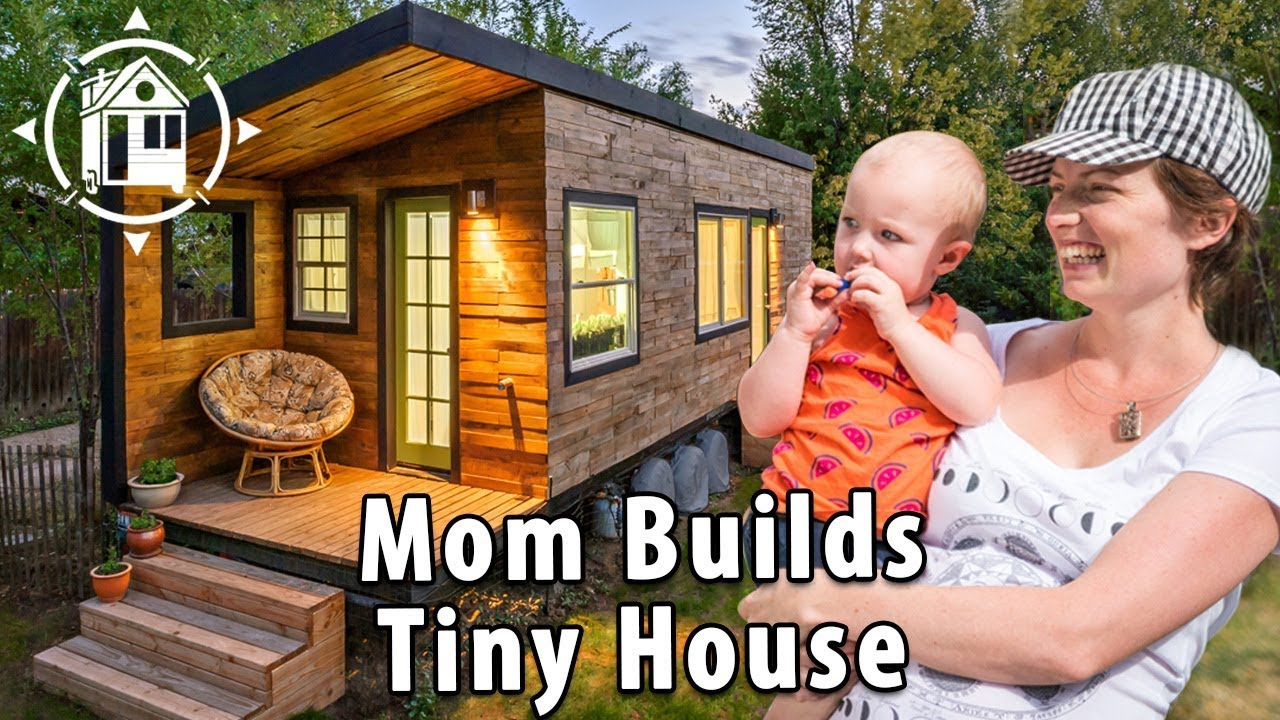 tiny house family 2 babies a great dane mom who built it youtube. Black Bedroom Furniture Sets. Home Design Ideas
