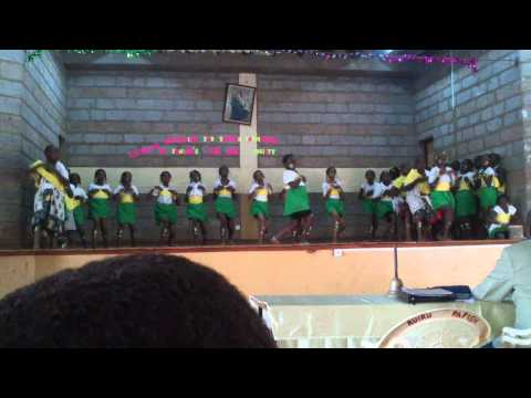 African Children singing a traditional song