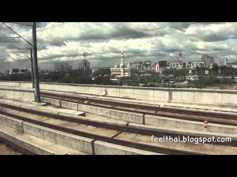 นั่งรถไฟเข้าเมืองจากสุวรรณภูมิ Bangkok Airport Rail link  full clip review