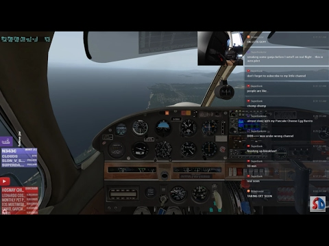 X-PLANE 11 - VAN NUYS LANDING PRACTICE with INSTRUCTOR