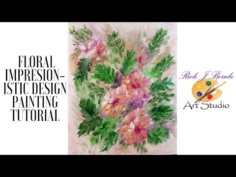 Impressionistic Floral Design Tutorial (Real Time) thumbnail
