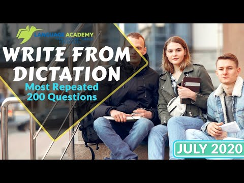 PTE Listening Write from Dictation July 2020 | Most Repeated 200 Questions | Language Academy PTE