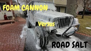Foam Cannon Vs. Road Salt