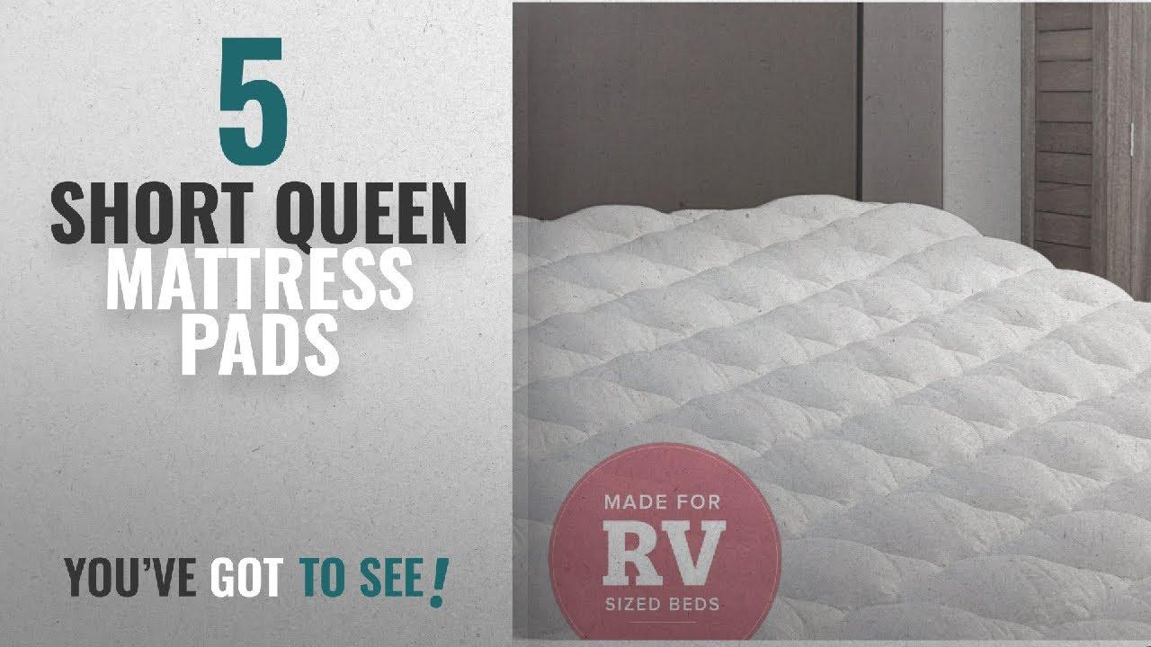 short queen mattress pad Top 10 Short Queen Mattress Pads [2018]: RV Mattress Pad   Extra  short queen mattress pad