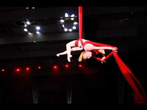 aerial silks women's circus act - Circus Kresiva