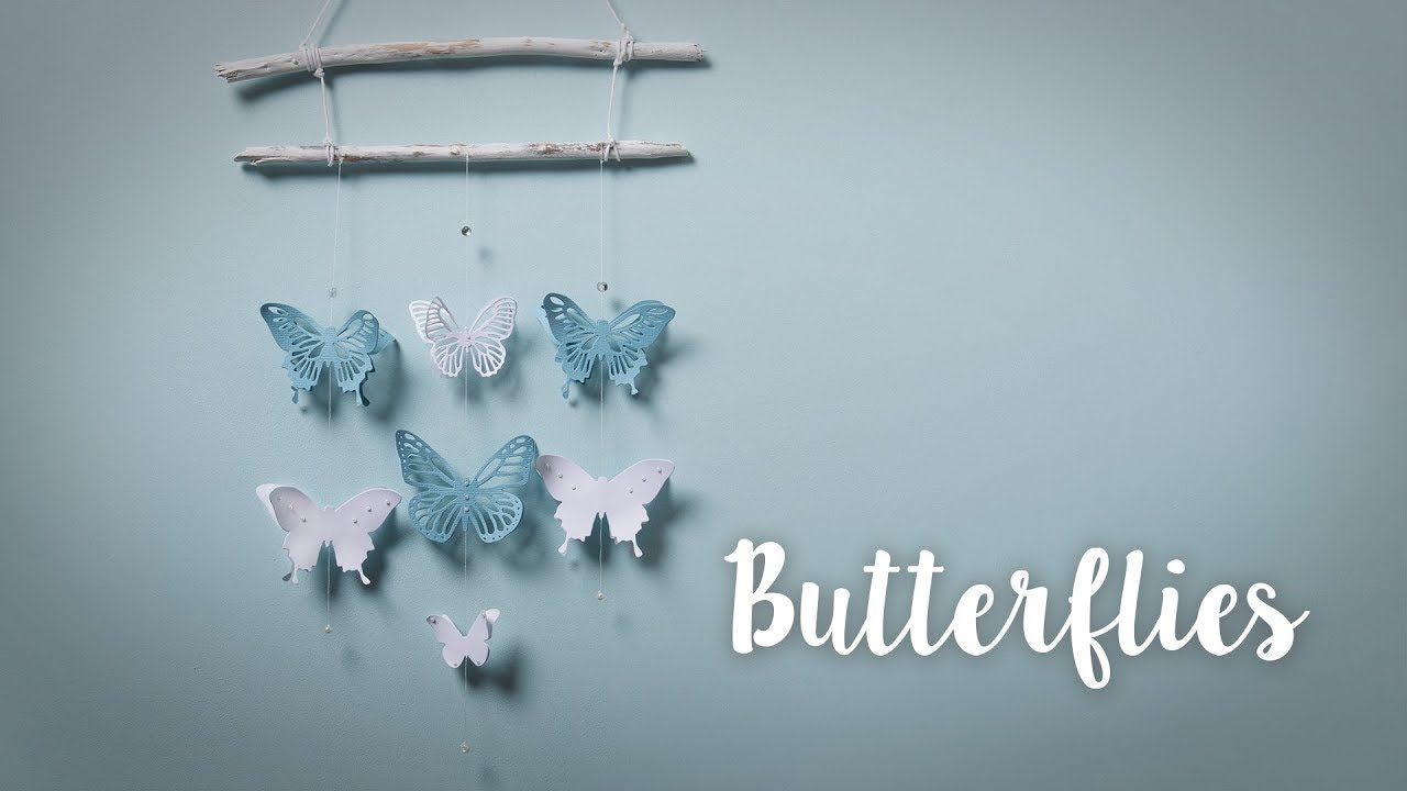 How To Make Home Decor Hanging Butterflies