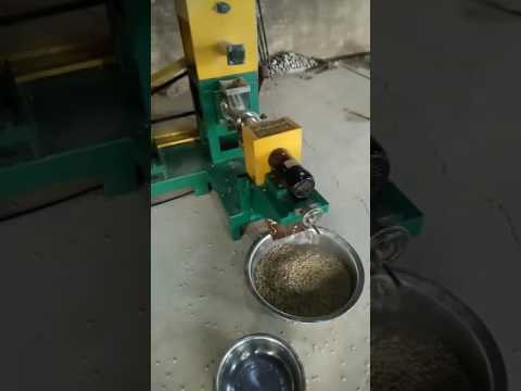 Video for Small floating fish feed machine