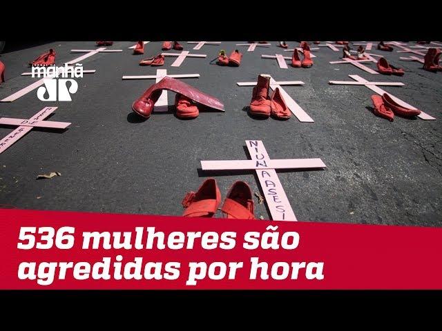76,4% de mulheres agredidas no Brasil sofreram violência por parte de algum conhecido