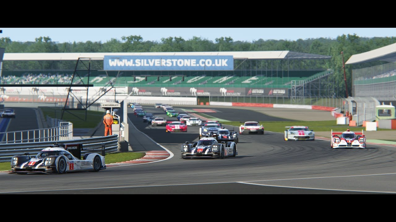 First lap action @ Silverstone WEC 2018 Assetto Corsa - YouTube