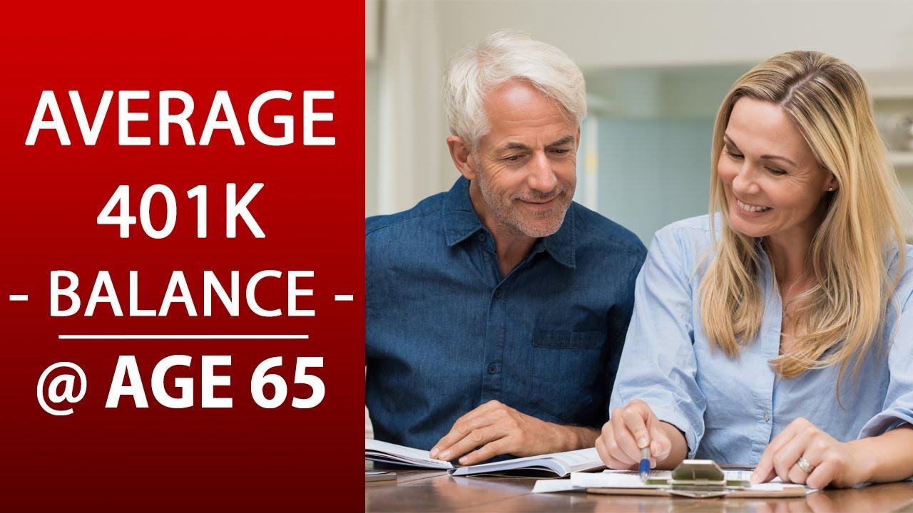 "Average 401k Balance by Age 65 | PLUS # of ""401k millionaires"""