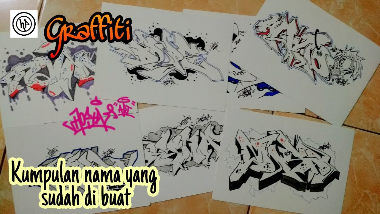 Kumpulan Graffiti Kertas Nama Graffiti Kertas 3d Part 1 Youtube