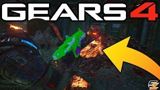 "Gears of War 4 Campaign Easter Egg - ""Real Gun Lancer Weapon!"" (Gears 4 Easter Eggs)"