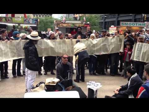 Occupy Torah: Alternative Torah Service at Occupy Wall Street