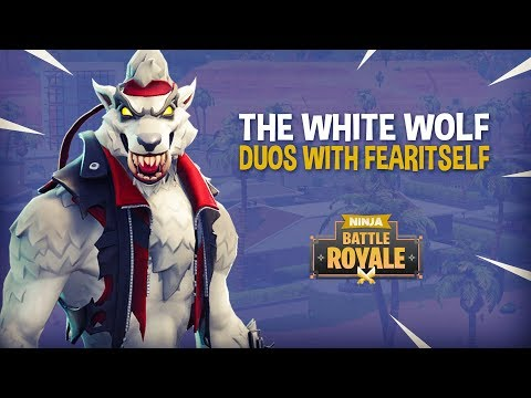 The White Wolf!! Fortnite Battle Royale Gameplay - Ninja & FearItSelf
