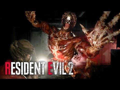 Resident Evil 2 Remake - Official Licker Battle Gameplay