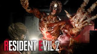 Resident Evil 2 Remake - Official Licker Battle Gameplay