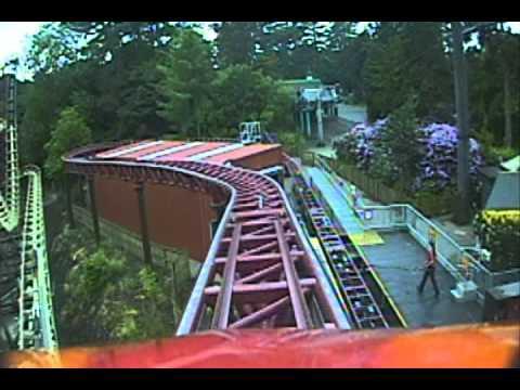 Rita Queen of Speed Roller Coaster Front Seat POV Alton Towers Theme Park England UK