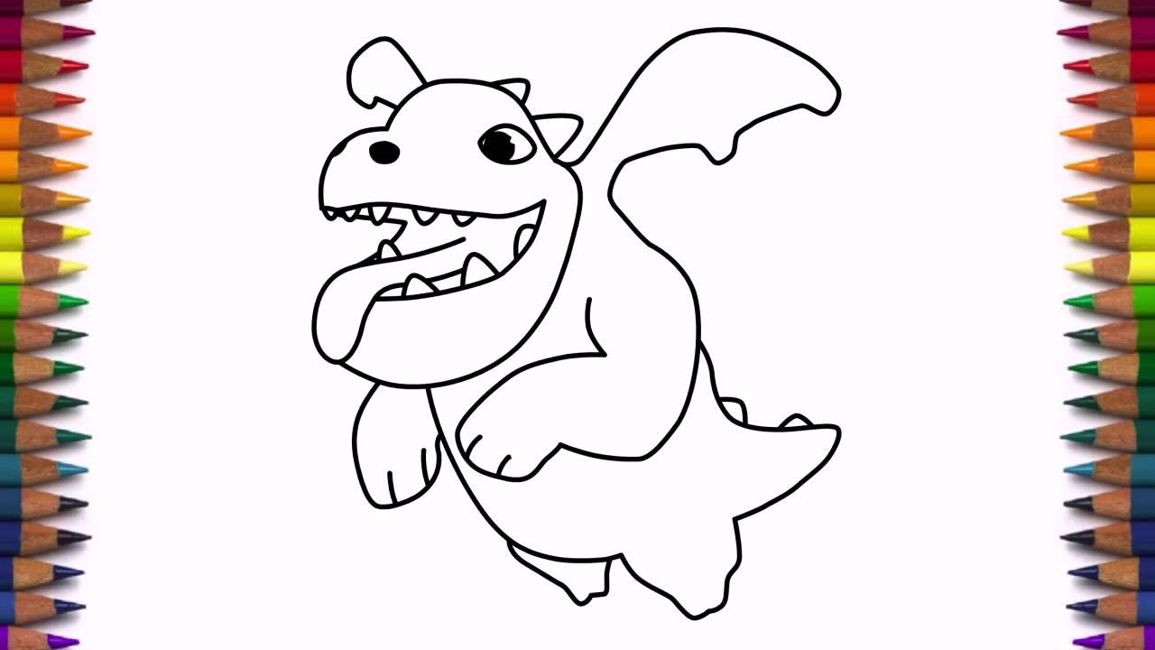 Uncategorized Baby Dragon Drawing how to draw baby dragon from clash of clans characters coc drawing step by youtube