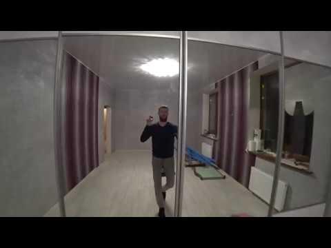 шкаф-купе белый глянец с зеркалом