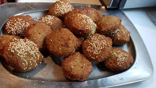 easiest falafel authentic delicious recipe(English video)